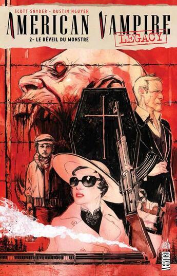 Couverture du livre « American vampire legacy t.2 ; le réveil du monstre » de Dustin N'Guyen et Scott Snyder aux éditions Urban Comics