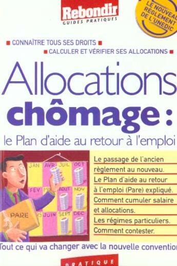 Couverture du livre « Allocations Chomage 2001 » de Collectif aux éditions Rebondir