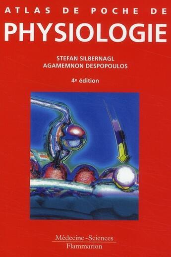 Couverture du livre « Atlas de poche de physiologie (4e édition) » de Silbernagl et Despopoulos aux éditions Lavoisier Msp