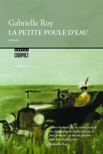 Couverture du livre « La petite poule d'eau » de Gabrielle Roy aux éditions Editions Boreal
