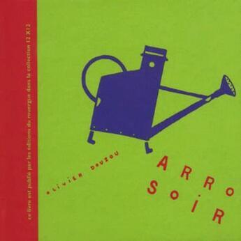 Couverture du livre « Arrosoir » de Olivier Douzou aux éditions Rouergue