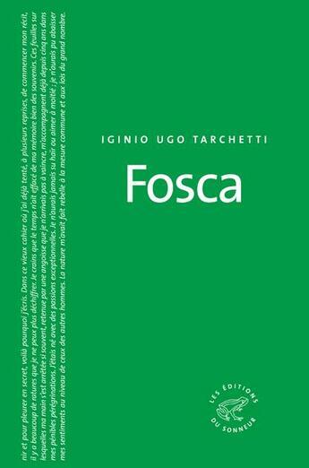 Couverture du livre « Fosca » de Iginio Ugo Tarchetti aux éditions Editions Du Sonneur