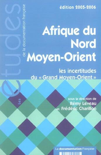 Couverture du livre « Afrique du nord - moyen-orient 2005-2006 n 5219-20 (édition 2005/2006) » de Leveau Remy/Charillo aux éditions Documentation Francaise