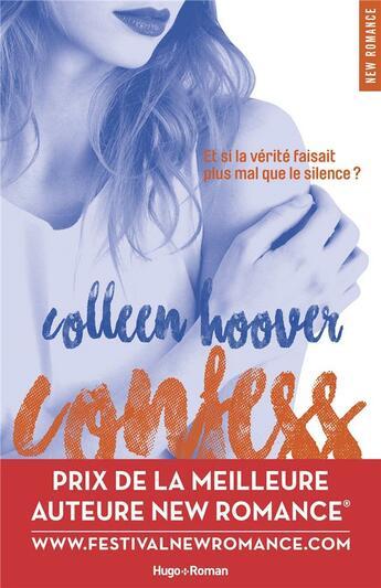 Couverture du livre « Confess » de Colleen Hoover aux éditions Hugo Roman