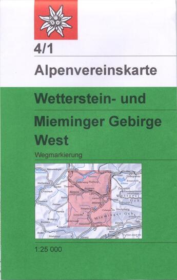 Couverture du livre « **Wetterstein Mieminger Geb. » de  aux éditions Alpen Veiren