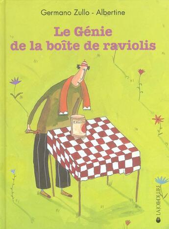 Couverture du livre « Le Genie De La Boite De Raviolis » de Albertine Zullo aux éditions La Joie De Lire