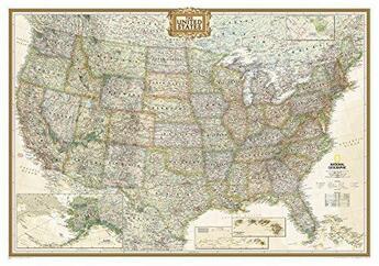 Couverture du livre « **North America Politique58 Cm X 76 Cm » de Collectif aux éditions National Geographic Us