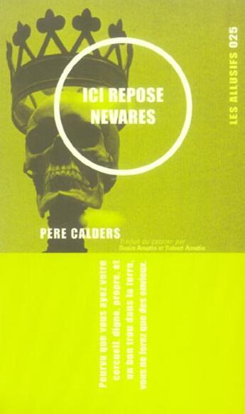 Couverture du livre « Ici repose nevares » de Andre Cabes aux éditions Les Allusifs