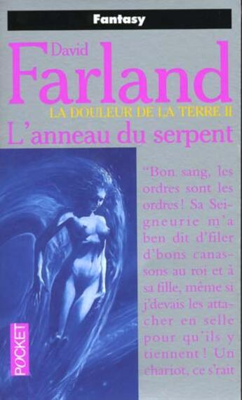 Couverture du livre « Anneau Du Serpent ; La Douleur De La Terre T.2 » de Dave Farland aux éditions Pocket