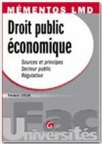 Couverture du livre « Mementos droit public economique » de Frederic Colin aux éditions Gualino