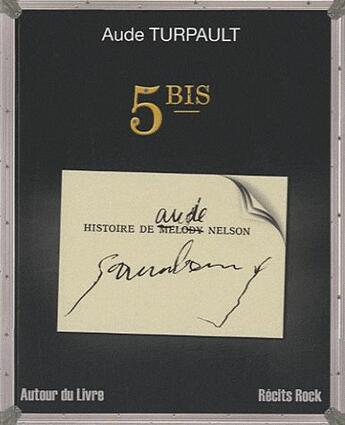 Couverture du livre « 5 bis » de Aude Turpault aux éditions Autour Du Livre