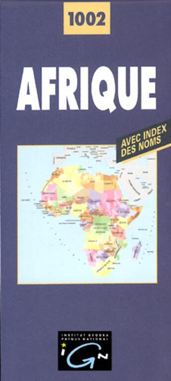 Couverture du livre « *Afrique Politique Pliee* » de Collectif Ign aux éditions Ign