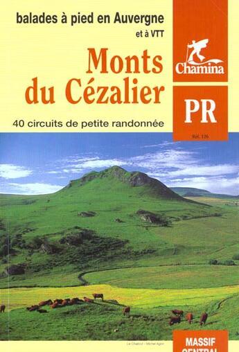 Couverture du livre « **Monts Du Cezalier » de Collectif aux éditions Chamina