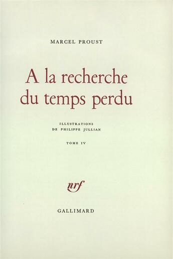 Couverture du livre « A la recherche du temps perdu t4 » de Marcel Proust aux éditions Gallimard