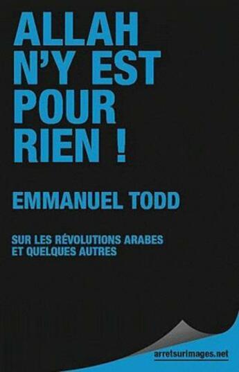 Couverture du livre « Allah n'y est pour rien » de Emmanuel Todd aux éditions Le Publieur
