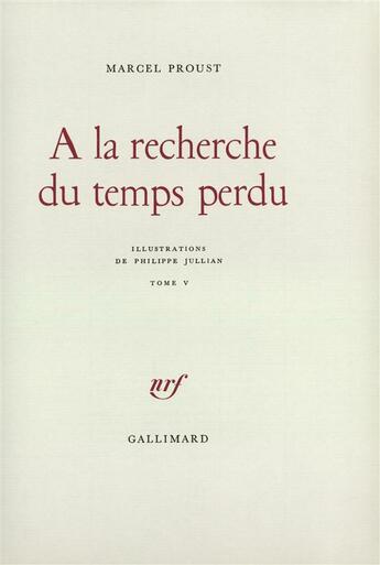 Couverture du livre « A la recherche du temps perdu t5 » de Marcel Proust aux éditions Gallimard
