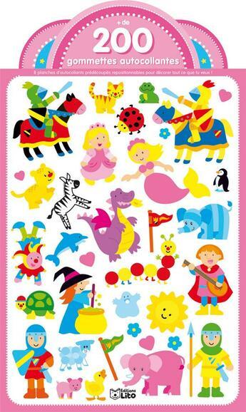 Couverture du livre « Autocollants Le Royaume De La Princesse Et De La Sirene » de Busquets/Busquets aux éditions Lito