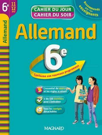 Couverture du livre « Allemand ; 6ème » de Christine Mulliez aux éditions Magnard