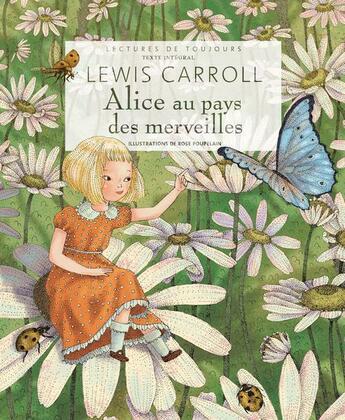 Couverture du livre « Alice au pays des merveilles » de Lewis Carroll et Rose Poupelain aux éditions Grund