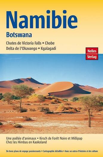 Couverture du livre « **namibie botswana » de  aux éditions Nelles