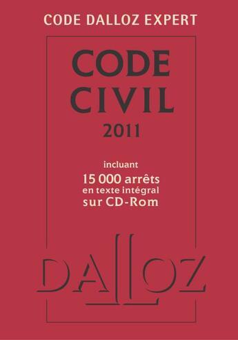 Couverture du livre « Code civil (édition 2011) » de Collectif aux éditions Dalloz
