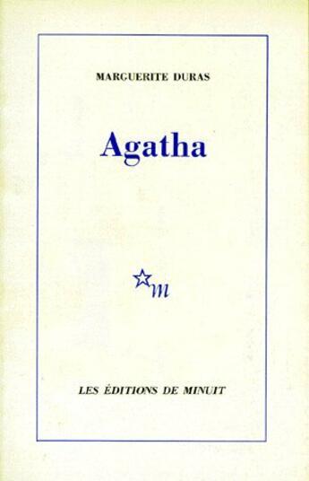 Couverture du livre « Agatha » de Marguerite Duras aux éditions Minuit