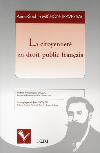 Couverture du livre « La citoyenneté en droit public français » de Michon A.-S. aux éditions Varenne