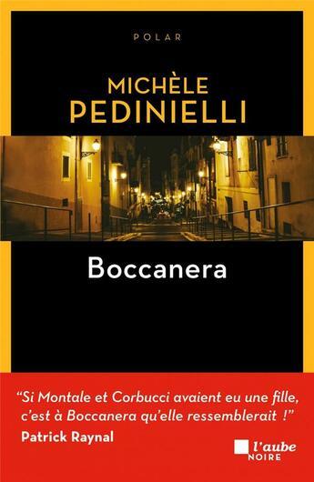 Couverture du livre « Boccanera » de Michèle Pedinielli aux éditions Editions De L'aube