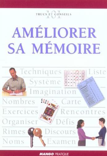 Couverture du livre « Améliorer sa mémoire » de David Thomas aux éditions Mango