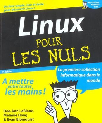 Couverture du livre « Linux » de Melanie Hoag et Evan Blomquist et Dee-Ann Leblanc aux éditions First Interactive