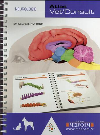 Couverture du livre « Atlas vet'consult neurologie » de Fuhrer L aux éditions Med'com