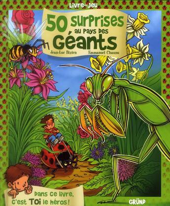 Couverture du livre « 50 surprises au pays des géants » de Jean-Luc Bizien aux éditions Grund