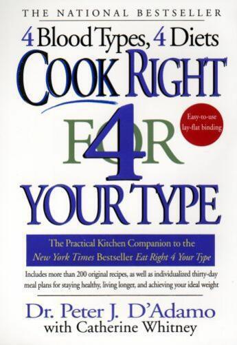 Couverture du livre « Cook Right 4 Your Type » de Catherine Whitney aux éditions Penguin Group Us