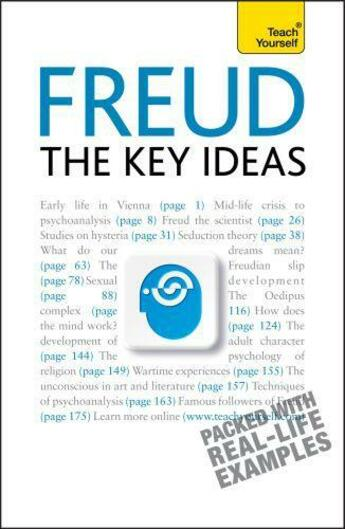 Couverture du livre « Freud- The Key Ideas: Teach Yourself » de Snowden Ruth aux éditions Hodder Education Digital