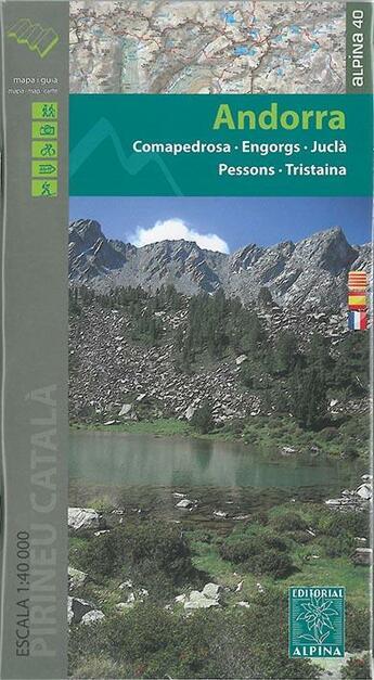 Couverture du livre « Andorra - 1/40.000 » de Xxx aux éditions Alpina