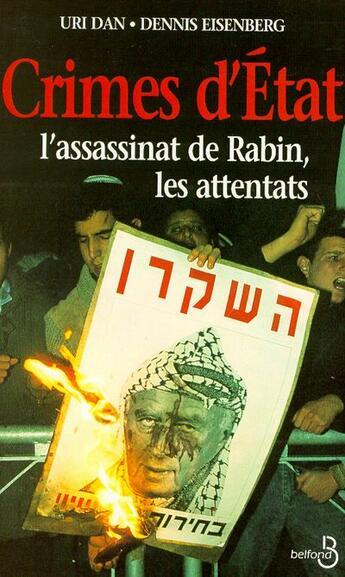Couverture du livre « Crimes D'Etat » de Dan Uri et Eisenberg Dennis aux éditions Belfond