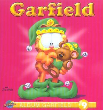 Couverture du livre « Album Garfield T.9 » de Jim Davis aux éditions Presse Aventure