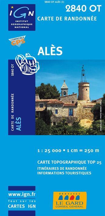 Couverture du livre « Alès ; 2840 OT » de Collectif Ign aux éditions Ign