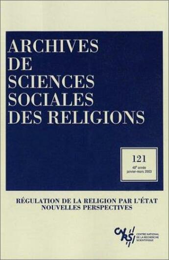 Couverture du livre « Archives de sciences sociales des religions 121 » de Collectif aux éditions Ehess
