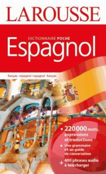 Couverture du livre « Dictionnaire Larousse poche espagnol » de Collectif aux éditions Larousse