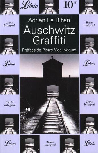 Couverture du livre « Auschwitz Graffiti » de Le Bihan aux éditions J'ai Lu