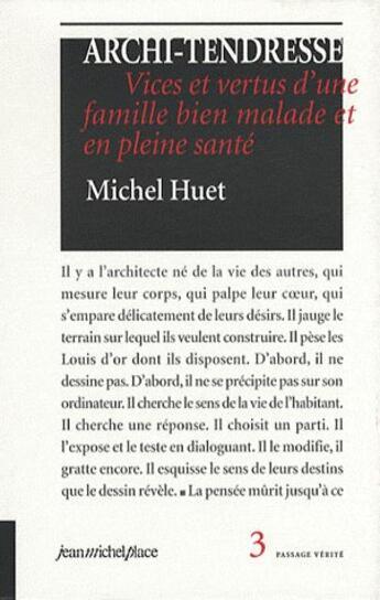 Couverture du livre « Archi Tendresse » de Michel Huet aux éditions Jean-michel Place