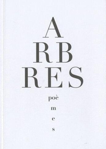 Couverture du livre « Arbres » de Collectif aux éditions Editions De L'oeil