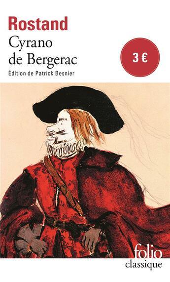 Couverture du livre « Cyrano de Bergerac » de Edmond Rostand aux éditions Gallimard