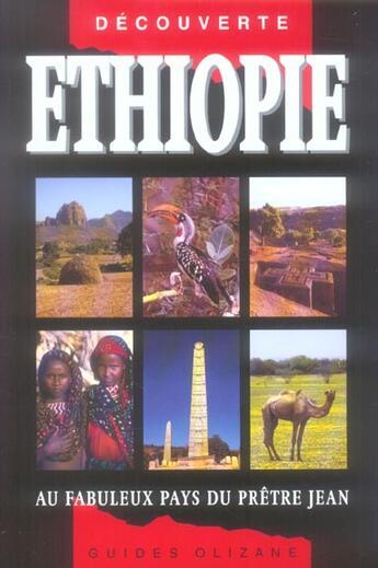 Couverture du livre « Ethiopie ; au fabuleux pays du prètre Jean (5e édition) » de Luigi Cantamessa aux éditions Olizane