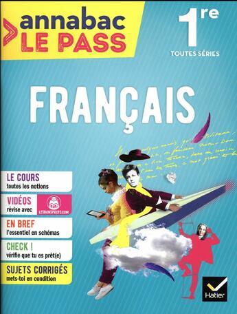 Couverture du livre « Francais 1re toutes series » de Sylvie Dauvin aux éditions Hatier
