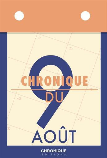 Couverture du livre « Chronique du 10 août » de Collectif aux éditions Chronique