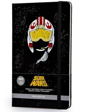 Couverture du livre « Agenda 2015 Star wars semainier carnet noir grand format » de Moleskine aux éditions Moleskine