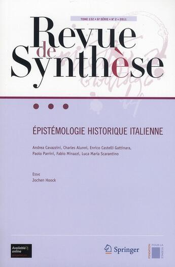 Couverture du livre « 2 ; épistémologie historique italienne » de Eric Brian et Andrea Cavazzini aux éditions Springer