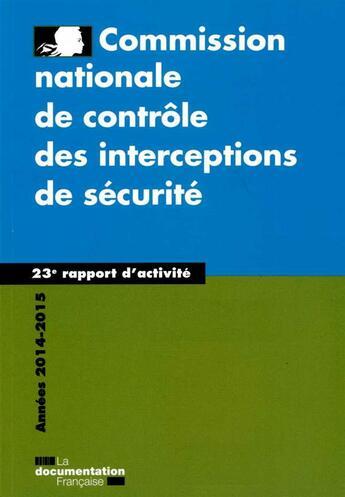 Couverture du livre « 23e rapport 2015 » de : aux éditions Documentation Francaise